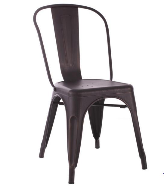 chaise industrielle noir or m tal esprit d 39 autrefois 52493 magasin de meubles deco orl ans. Black Bedroom Furniture Sets. Home Design Ideas