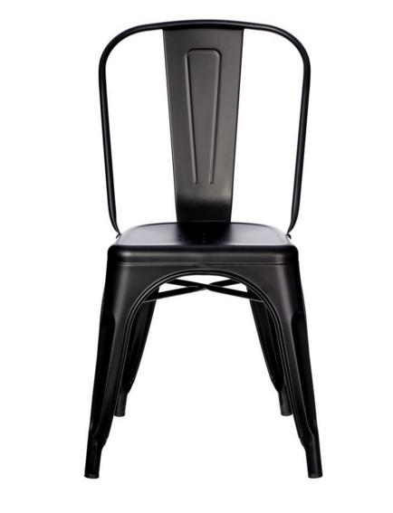 chaise industrielle noire m tal esprit d 39 autrefois 78583 magasin de meubles deco orl ans. Black Bedroom Furniture Sets. Home Design Ideas