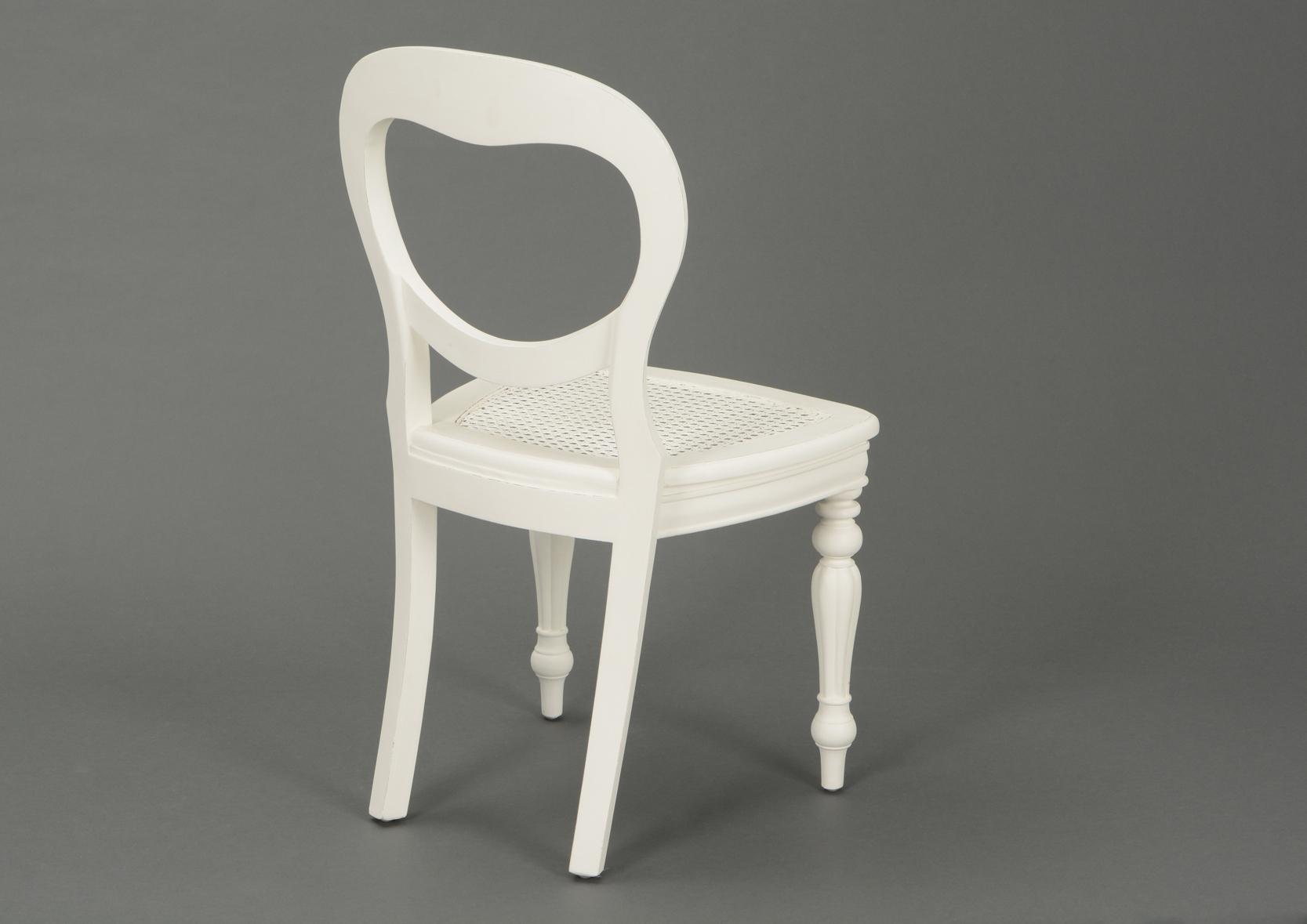 Chaise rotin agathe amadeus 118414 o magasin de for Chaise blanche rotin