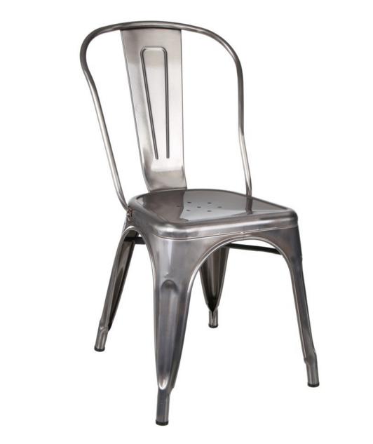 esprit dautrefois vous propose les chaises chaise industrielle argent mtal au meilleur prix - Chaise Metal