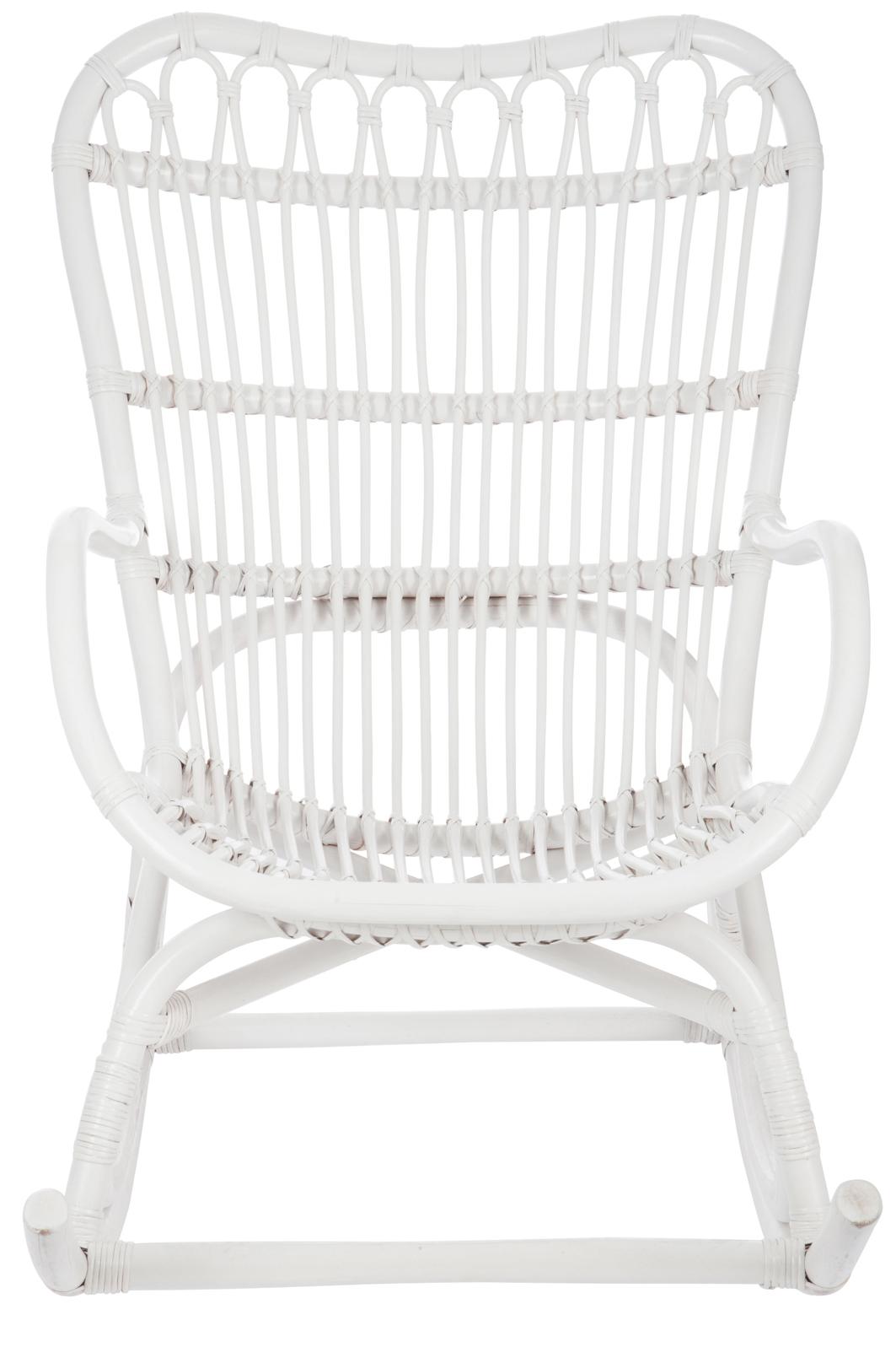 Fauteuil à Bascule Bambou Et Rotin Blanc Jolipa 61391 Magasin De
